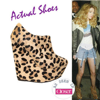 View Item Leopard Print Wedge Ankle Boot